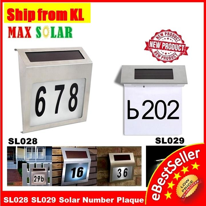 Lights & Lighting Trustful Waterproof Address Plaques Stainless Steel Led Porch Light Letter Number Paster Led Solar Powered Lamp