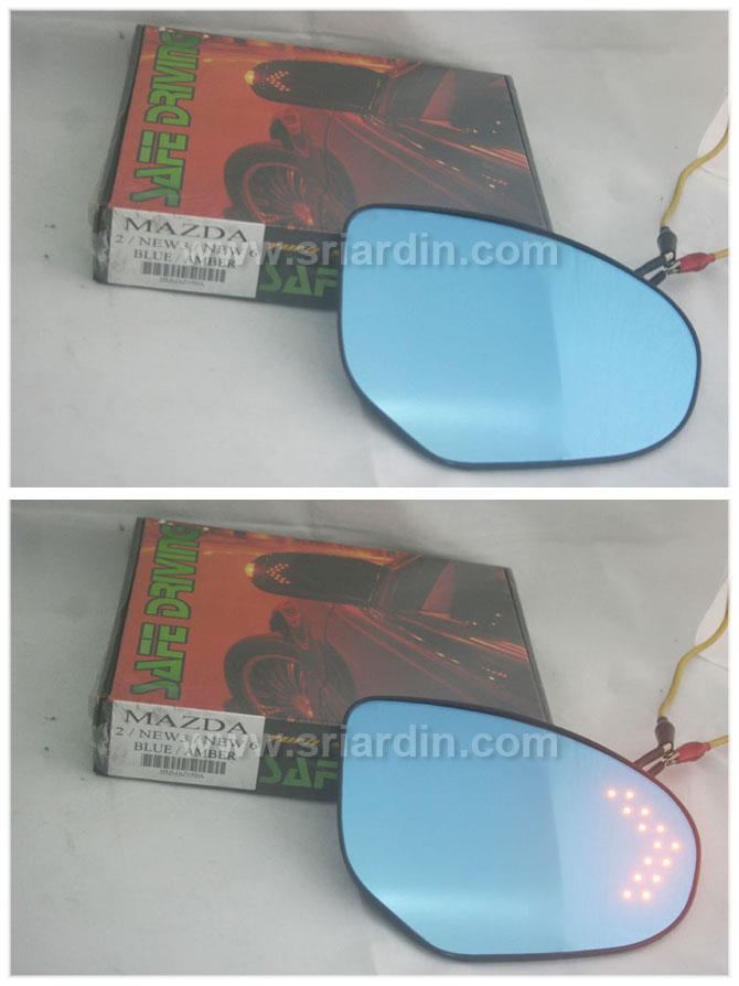 Mazda 6 08-13 Blue Side Mirror w LED Signal