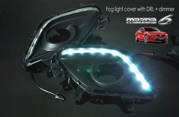 MAZDA 6 GJ 13-15 3in1 LED DRL + Auto Dimmer + Auto On Fog Lamp Cover