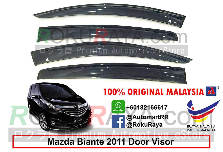 Mazda Biante 2011 Ag Door Visor Big 12cm Width