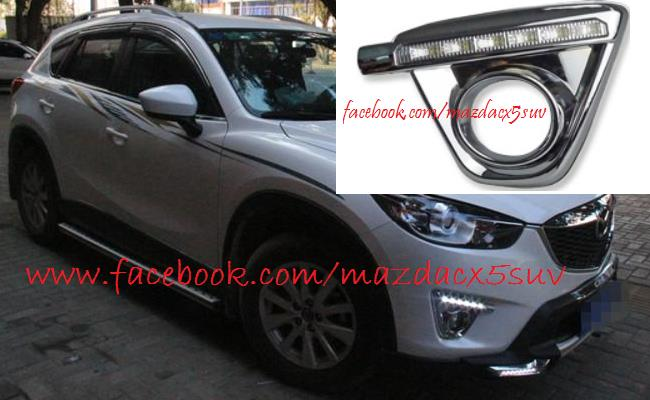 Mazda CX 5 Fog Light Cover With LED DRL (Chrome)