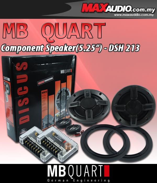 "MB QUART DISCUS DSH-213 5.25"" 90W RMS 2-Way Component Speaker"