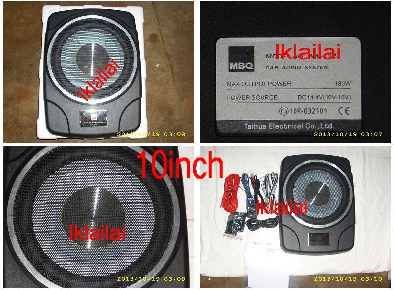 MBQ AUDIO 10' / 10inch Underseat Active Subwoofer