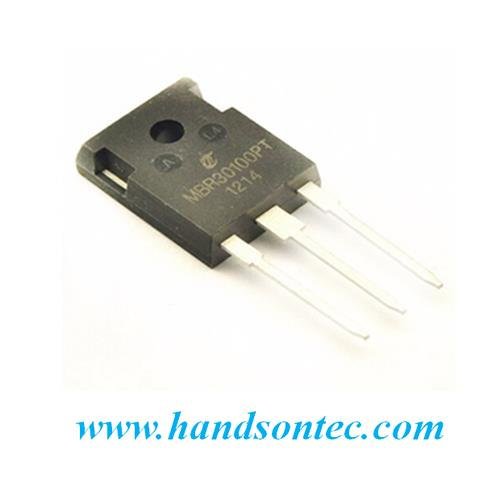 MBR30100PT Dual Common Cathode Schottky Rectifier 100V 30A.