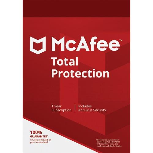 McAfee Total Protection 2020 - 1 Year Unlimited Device Windows Mac IOS
