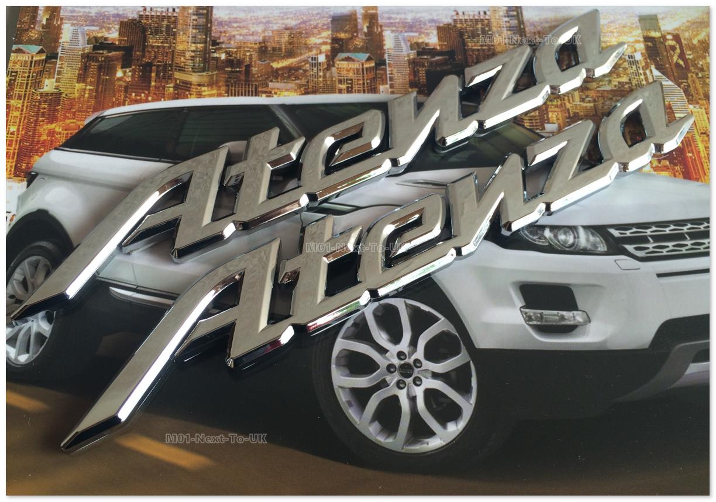 [MCC-IYH] 2 Piece Atenza Chrome Badge Emblem Logo Fender C
