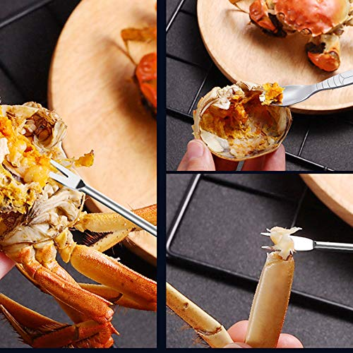 mcdej Seafood Tools Set - Crab Legs Lobster Nut Shellfish Crackers Forks and S