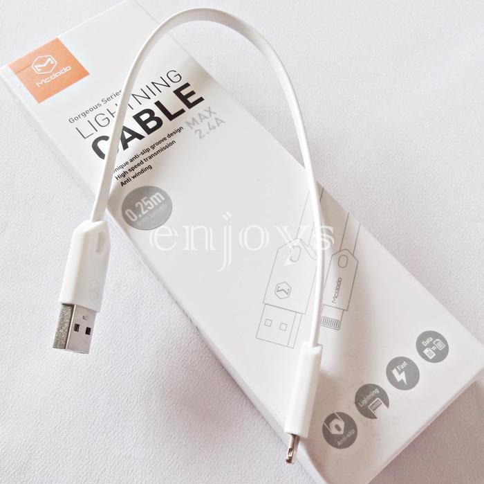 MCDODO 25CM Power Bank Short Charging Cable iPhone 8 7 6 6S Plus ~WHT