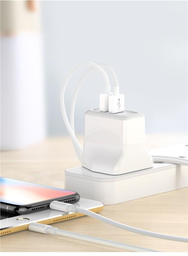 MCDODO Lark Series ABS Fireproof 2.4A Dual USB Port Charger Cable