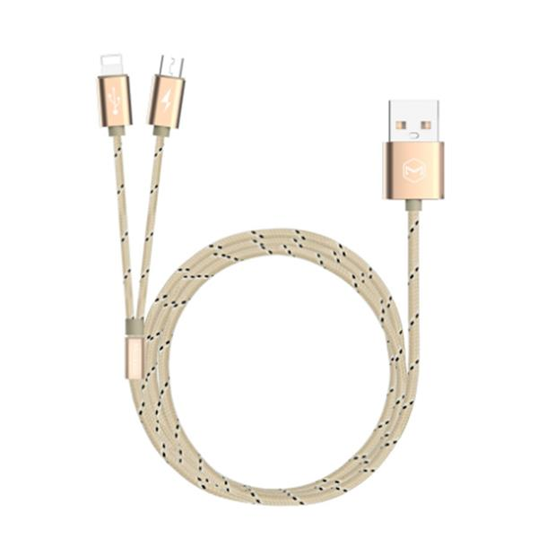 Mcdodo Woven MCA-1630 2 in 1 MicroUSB + Lightning Adaptor Data Cable