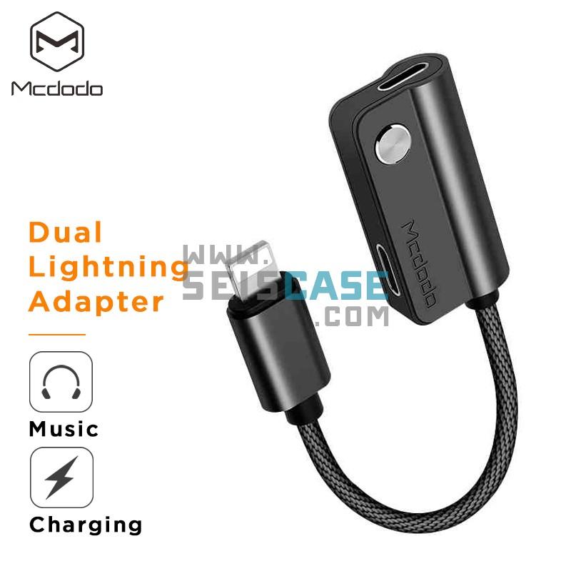 Mcdood CA347 Dual Lightning Audio Adaper iPhone Quick Charge Earphone
