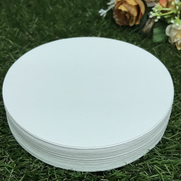 MCS White Colour Round 100% Cotton times  - (25 pcs)