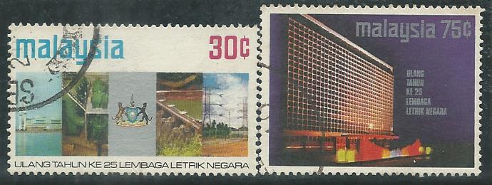 MCU-19740901 M'SIA 1974 25TH ANNI OF THE NATIONAL ELECTRICITY  2V USED