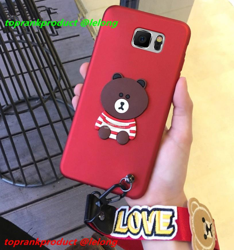MCWL Samsung Galaxy Note 3 4 5 8 Cartoon Silicone Case Cover Casing