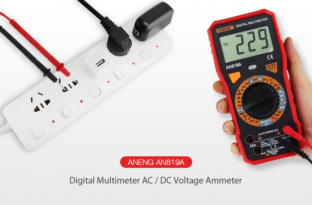 Measuring Tools - ANENG An819a Digital Multimeter Ac / Dc Voltage Capa..
