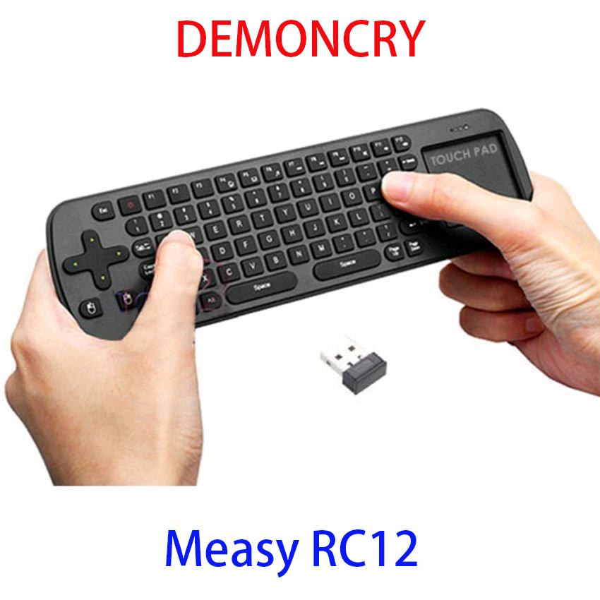 Measy RC12 2.4G USB Wireless Keyboard Touchpad Air Fly Mouse FOR TVBOX