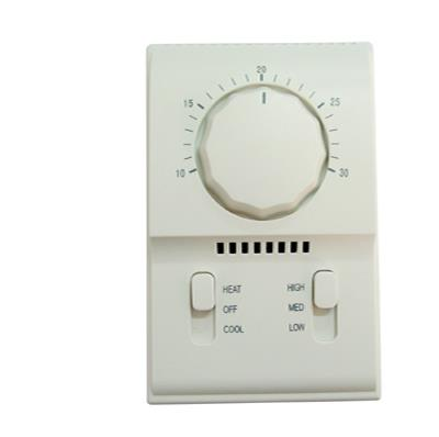 Mechanical Room Thermostat with 3 Fan Speed Switch