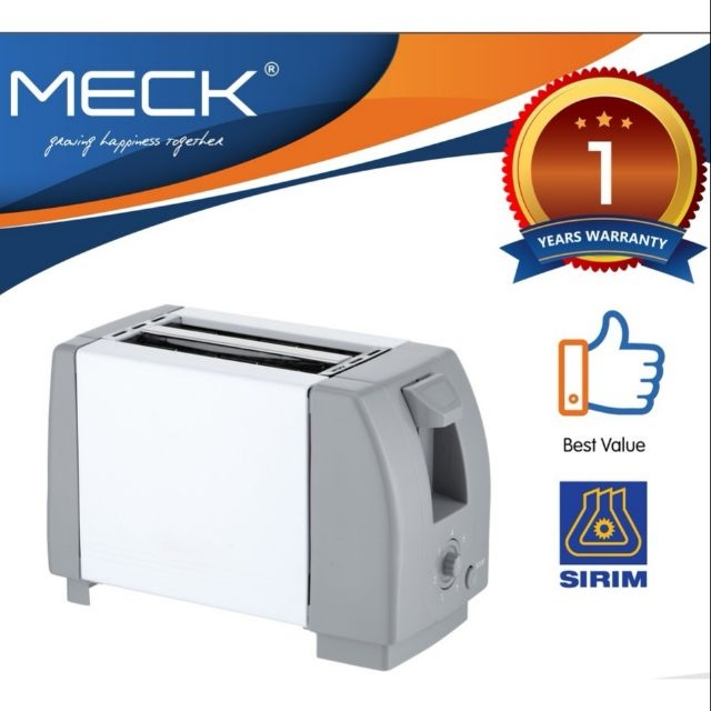 Meck Two Slice Bread Toaster MBT-200D (Grey)