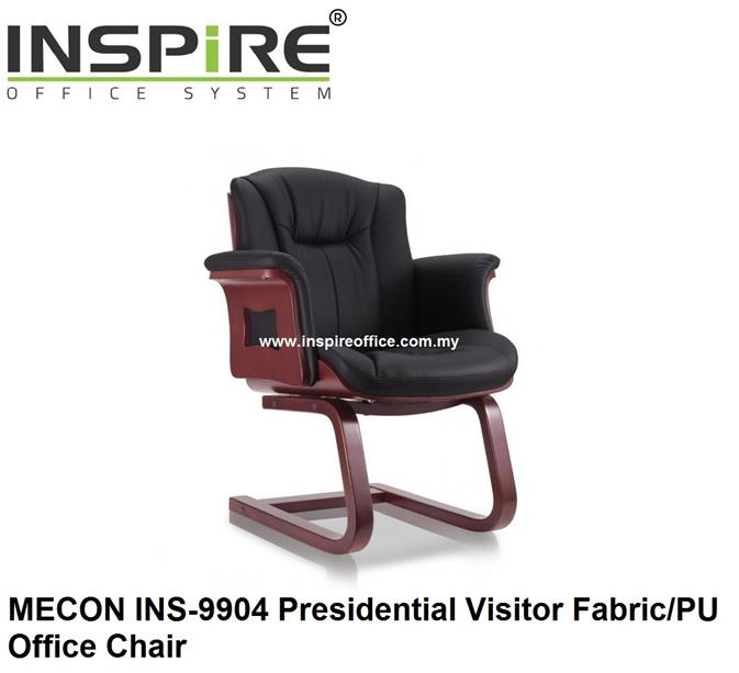 MECON INS-9904 Presidential Visitor Fabric/PU Office Chair