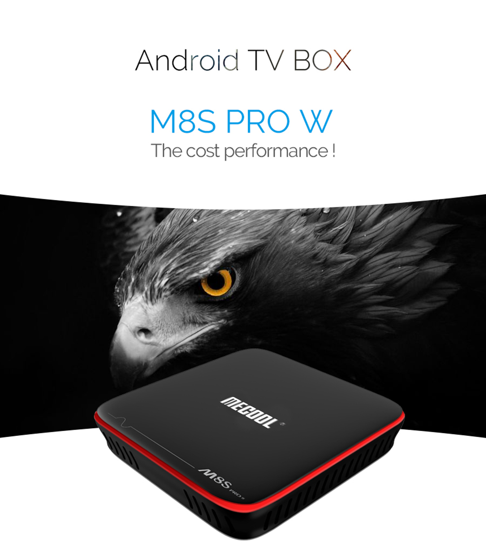 Mecool M8S PRO W 2.4G TV Box Amlogic S905W / Android 7.1.1 / Stalker M..