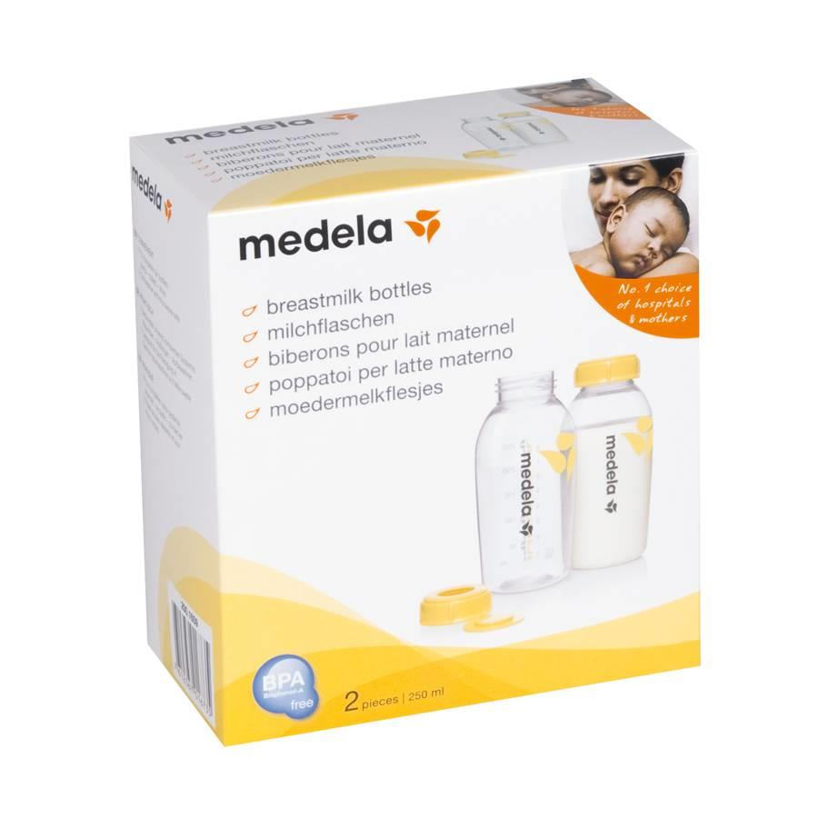 Medela Breastmilk Storage Bottles - 250ml (2pcs)
