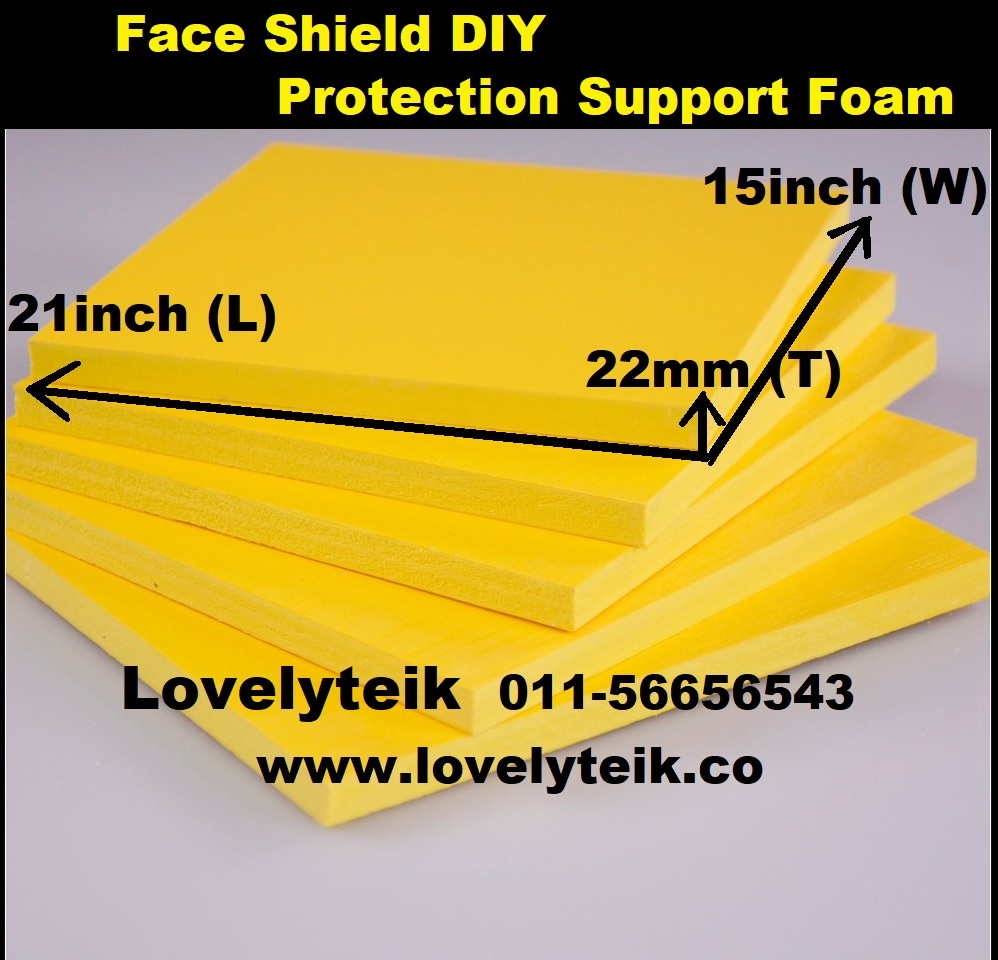 Medium Density DIY Face Shield Foam Protection Support Sponge