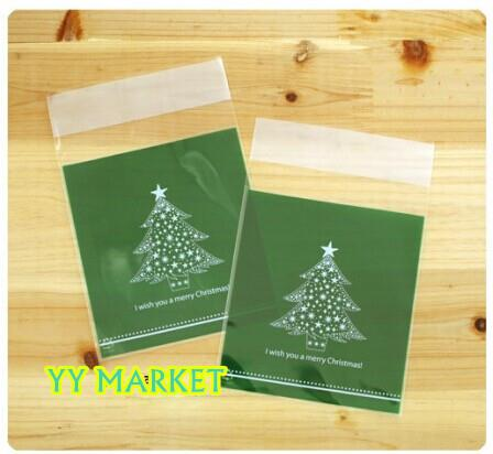 Medium Size Christmas Cookies Bag Candies Bag - X'mas Tree