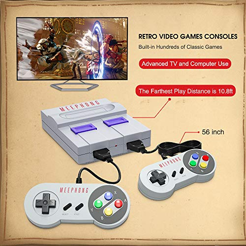 MEEPHONG Retro Game Console, HDMI HD Built-in 821 Classic Video Games,Built-in