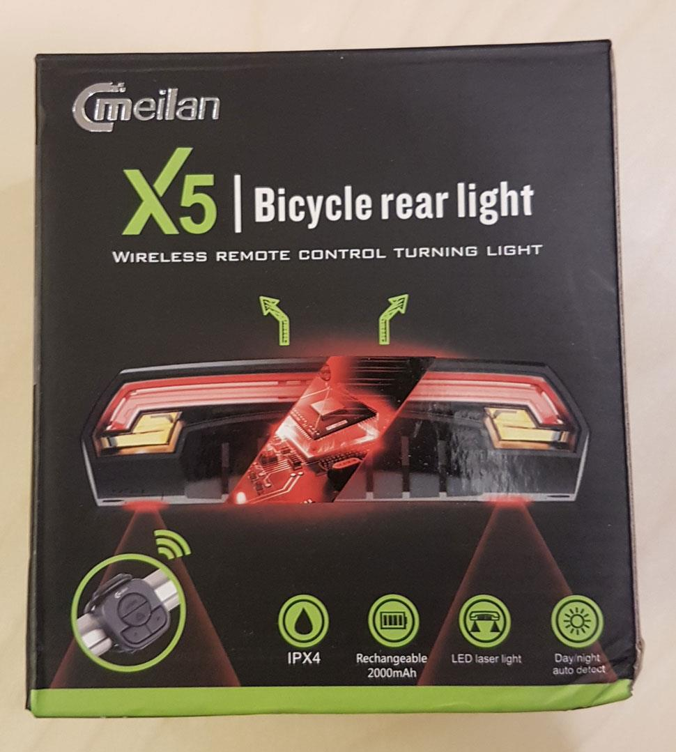 MEILAN X5 BICYCLE REAR LIGHT WIRELESS REMOTE CONTROL TURNING LIGHT