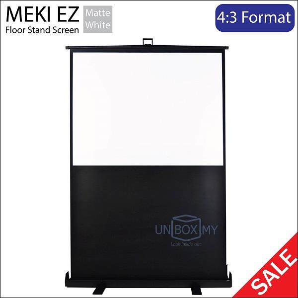 "MEKI Portable Floor Stand 80""D Pull Up Projector Screen Matte White"