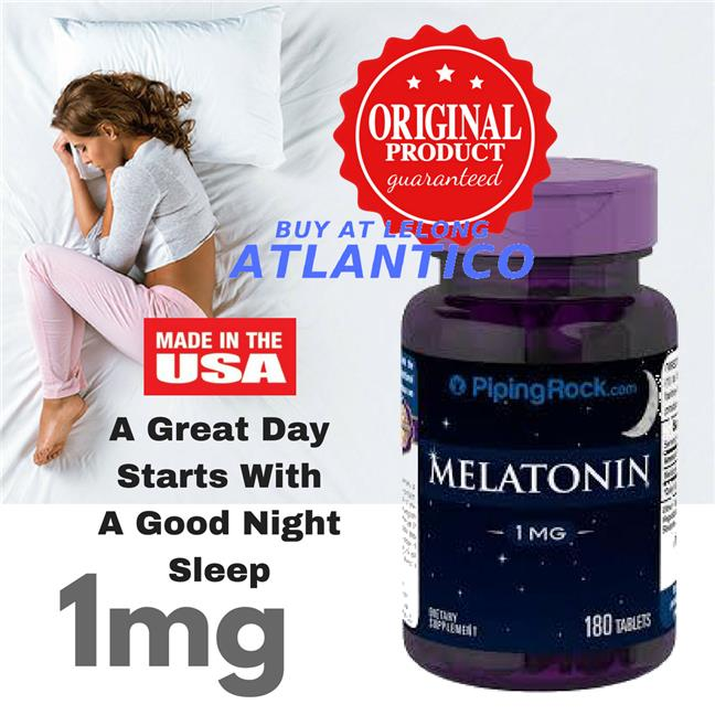 Melatonin 1 mg 180 Tablets Bottle (1mg 1000mcg Pil Tidur Sleep)