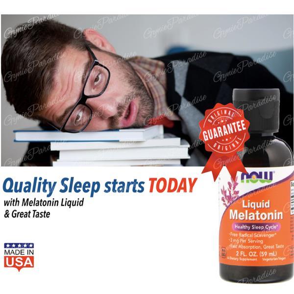 Melatonin Liquid 60ml 3mg (pembantu tidur, sleep well) 100% Vegetarian