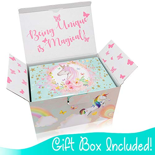 The Memory Building Company Unicorn Music Box  & Little Girls Jewelry Set - 3