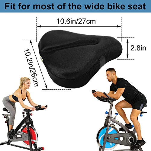 Memory Foam Bike Seat Cover, Extra Soft Gel Cover for Men Women, Comfortable E