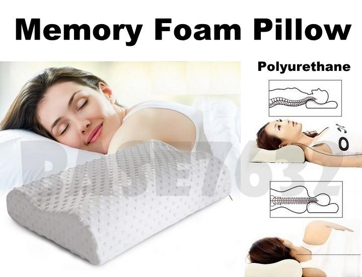 Memory Foam  Polyurethane Sleeping Slow Rebound Neck Cervical Pillow