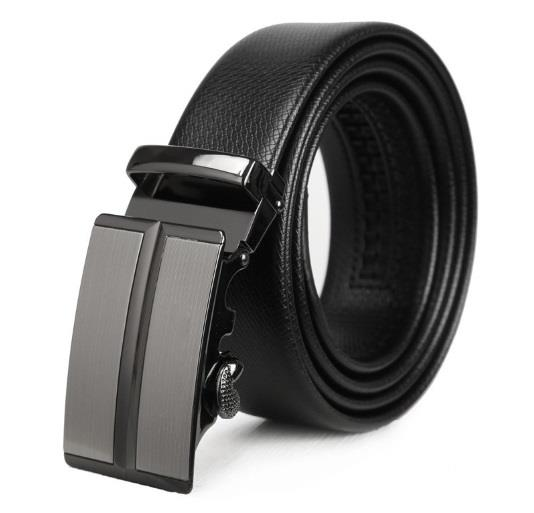 Men Adjustable Leather Automatic Buckle Belt