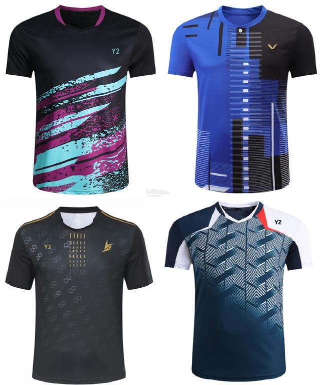 Men Badminton Sports Jersey Top Shirt fast dry light weight #various
