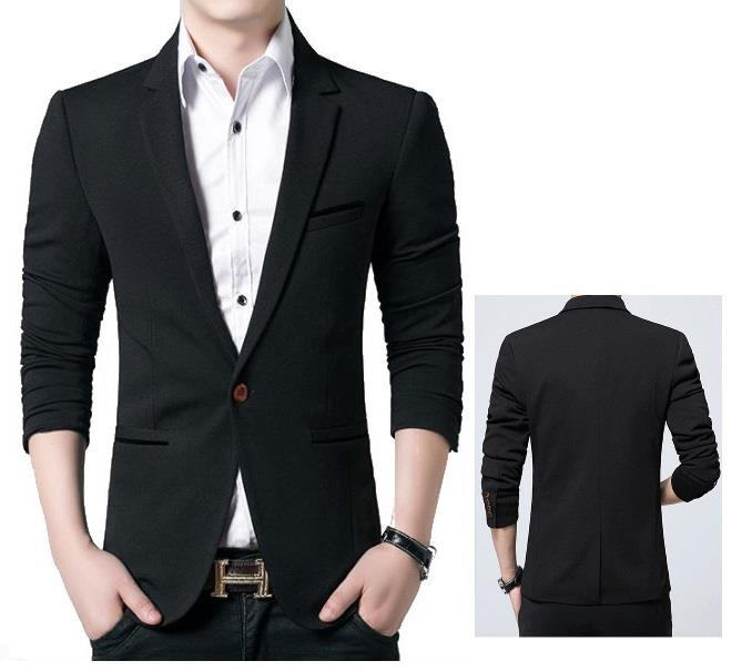 12bf733fa5c8 Men Breathable Coat Men Slim Fit Jacket Suit Coat Business Blazer. ‹ ›