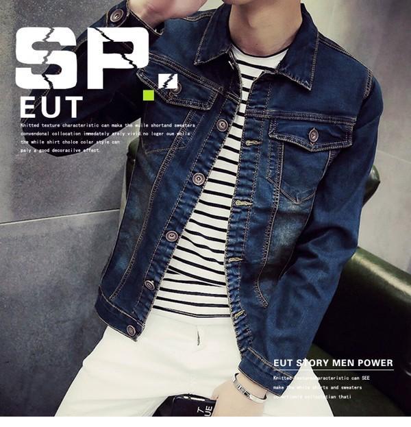 15f5dd467e4 Men Denim Jacket Smart Casual Korean Style (PS10007)
