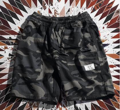 Men Fashion Trendy Street Style Loose Camouflage Shorts