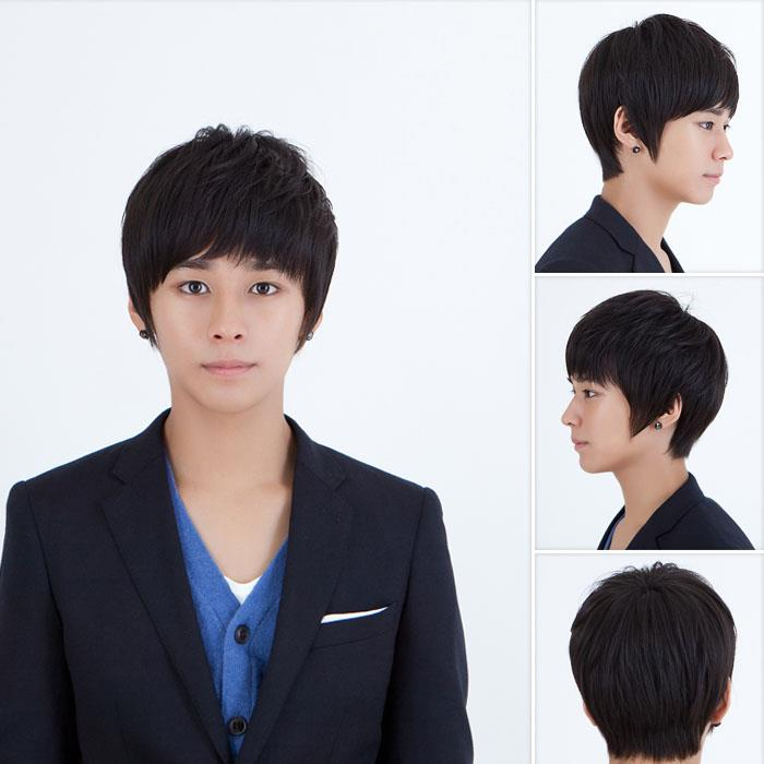 Men hair wig/ straight  m10/ ready stock/ rambut palsu