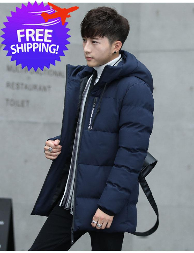 Men Hooded Long Sleeve Feather Down Winter Autumn Jacket Coat