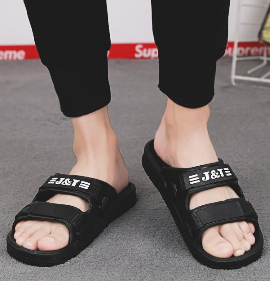 8ea4629c9a286 Men Korean Fashion Summer Outdoor Non Slip Soft Beach Slippers