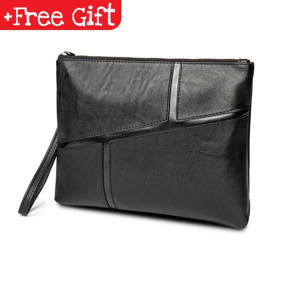 Men Leather Purse Wallet Pouch Clutch Bag Business Handbag 133