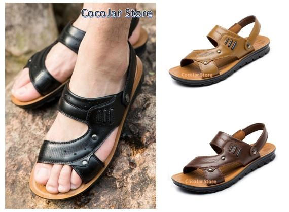 cec319c4a07 Men Leather Sandals Slippers Shoes S (end 9 14 2019 5 57 PM)