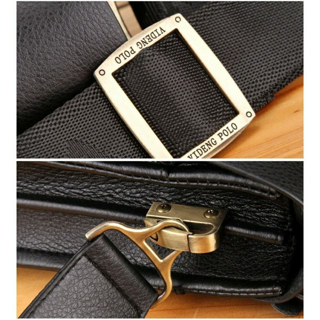Men Leather Sling Shoulder Cross Body Man Bag