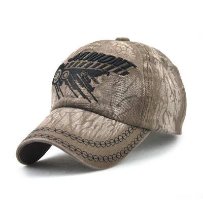 Men of Letters Cotton Embroidered Hat Fashion Baseball Cap Hat (ARMY GREEN)