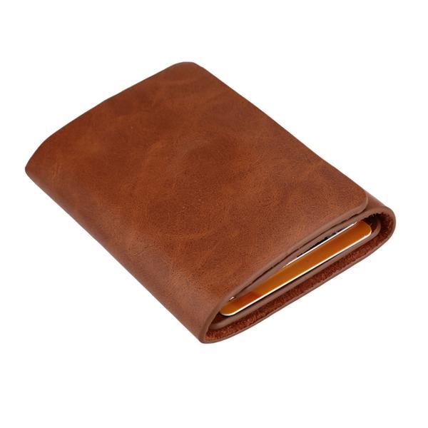 Men Money Clip Wallet Genuine Leather Short Card Holder Trifold Magnet. ‹ › 3dff86f24866