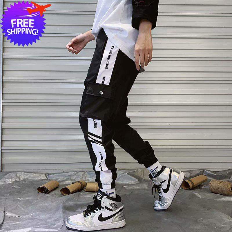 Men Multi Pockets Sports Long Pants