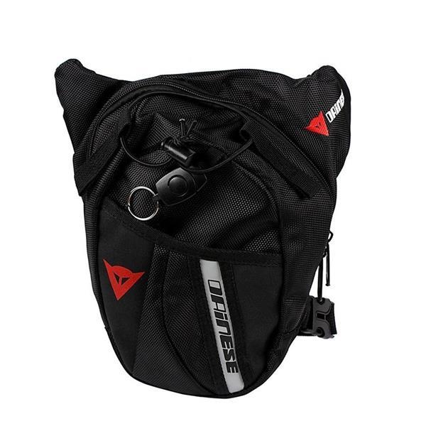 ce2e396801be4 Men Outdoor Portable Waist Belt Bag Drop Leg Bag Black Nylon Travel